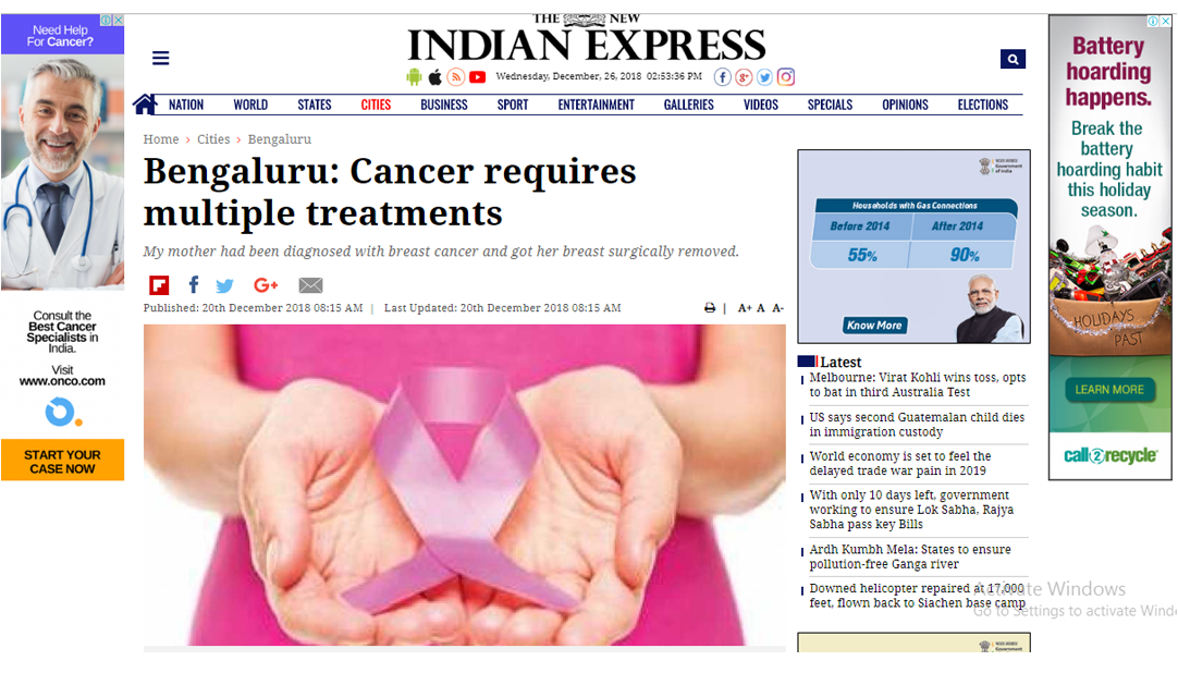 Dr Sandeep Nayak : Cancer requires multiple treaments