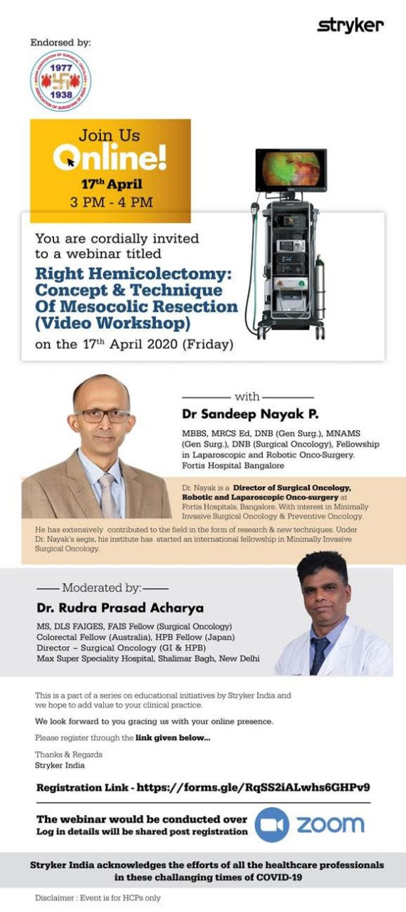 Right Hemicolectomy Video workshop by Dr Sandeep Nayak